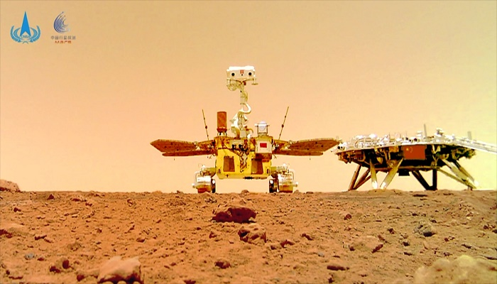 China releases videos of its Zhurong Mars rover