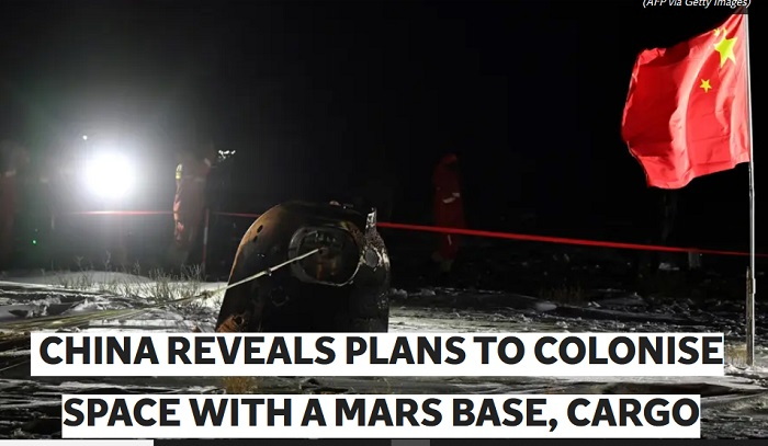 China reveals plans to colonise space with a Mars base, cargo fleets, alien cities, and a 'sky ladder'