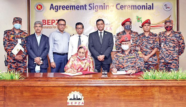 BEPZA signs MoU with Fire Service to expedite OSS
