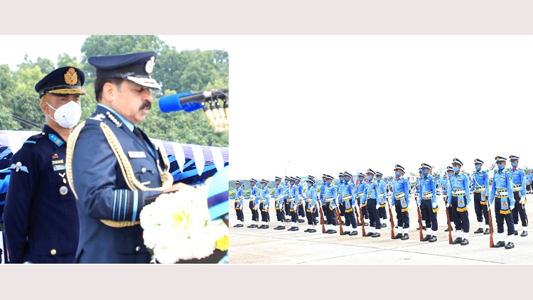 President Parade-2021 held at BAF academy in Jashore