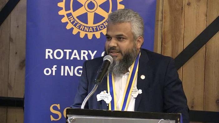 Rotarian Syed Akram Ullah elected president of Rotary Club of Ingleburn in Sydney
