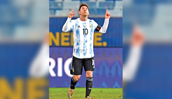 Messi double leads Argentina to trounce Bolivia