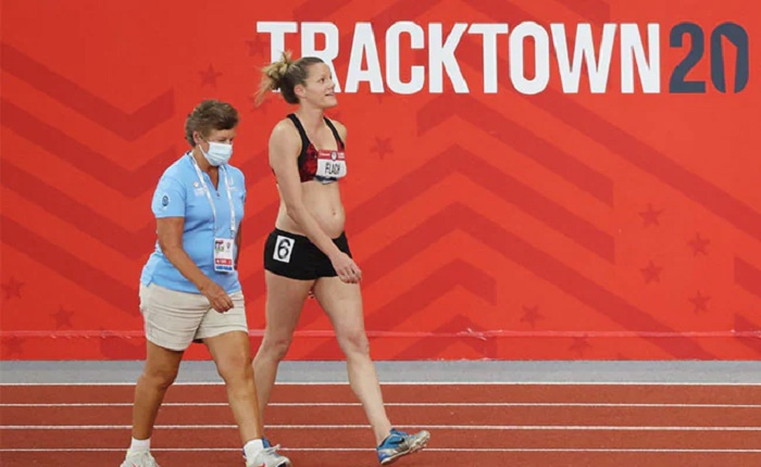 Heptathlete competes in Olympic trials while 18 weeks pregnant