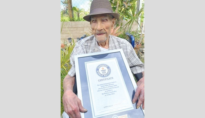 Puerto Rican becomes world's oldest living man