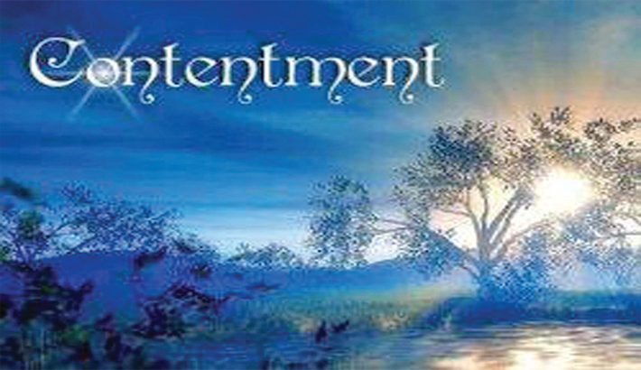 Contentment a sign of wealth