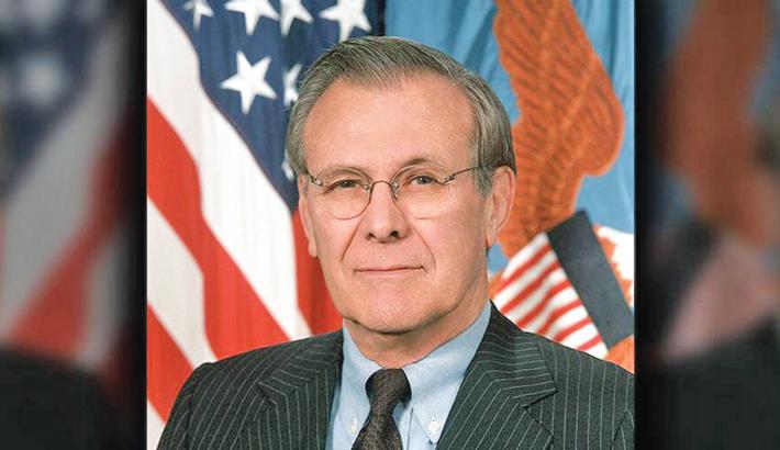 Iraq war architect Donald Rumsfeld dies