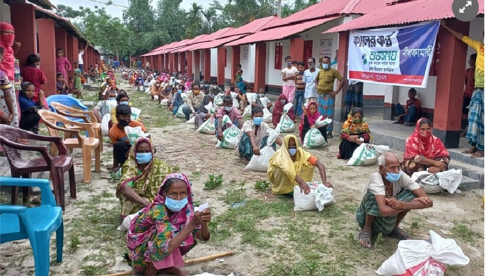 Bashundhara Group stands by landless people in Nilphamari