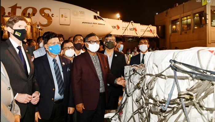 Bangladesh receives 2.5m  Moderna vaccines from USA, 2m  Sinopharm vaccines from China