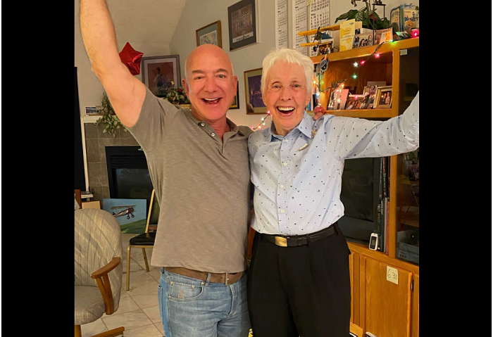 An 82-year-old woman is going to space with Jeff Bezos