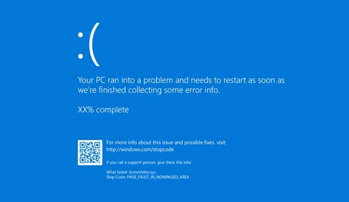 Microsoft Windows' blue screen of death goes black