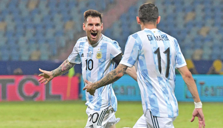 Messi magic takes Argentina to Copa semis