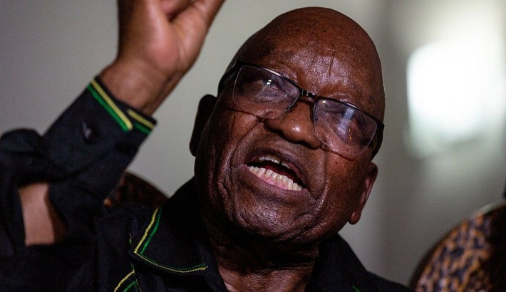 Jacob Zuma supporters gather to prevent his arrest