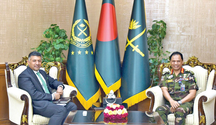 Indian high commissioner calls on army chief