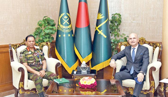 Turkish ambassador calls on army chief