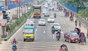 The number of small vehicles, especially private cars, rises on different streets of the capital on Wednesday amid the ongoing lockdown. The photo was taken from Airport Road.—Reaz Ahmed Sumon