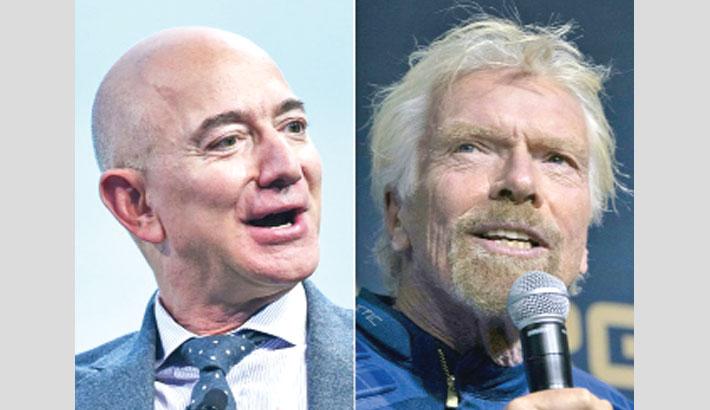 Final frontier for billionaires Branson and Bezos space tour