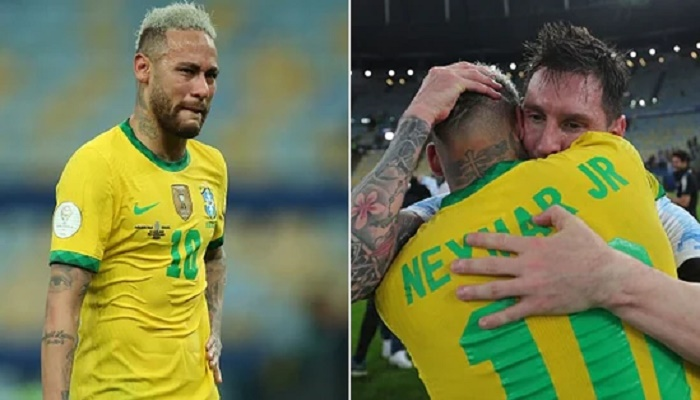 Copa America Final: Neymar breaks down after Brazil's defeat to Argentina, Messi consoles him with a tight hug