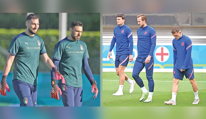 England, Italy count down to Euro final