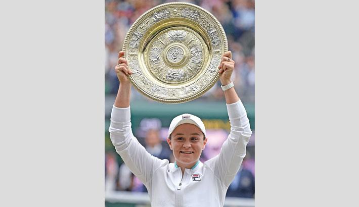 Barty wins first Wimbledon title