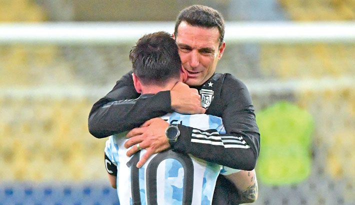 Messi played Copa America final with injury, says Scaloni