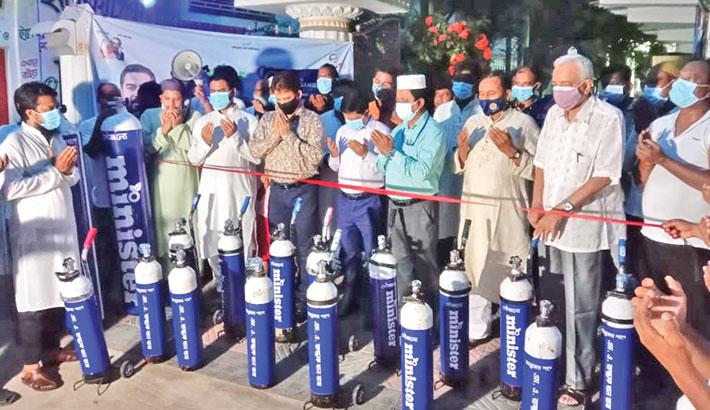 Chuadanga district Deputy Commissioner Md Nasrul Islam Sarker inaugurates a health care centre at Palash Para in Chuadanga on Tuesday. Minister Group Chairman and FBCCI Vice-President MA Razzak Khan Raj has set up the centre at his village home at Palash Bari in Chuadanga.