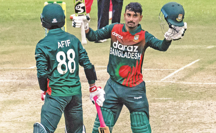 First ODI against Zimbabwe: Liton, Shakib star in massive win