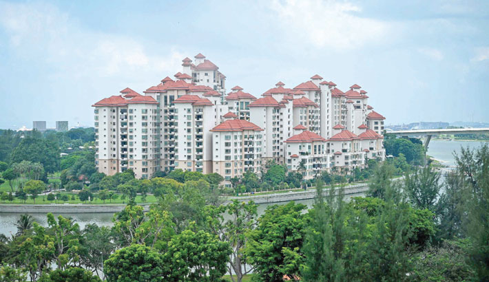 A general view of the Costa Rhu condominium complex is seen in Singapore on Friday.