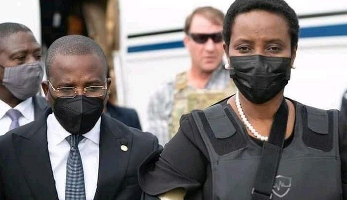 Wife of assassinated president returns to Haiti