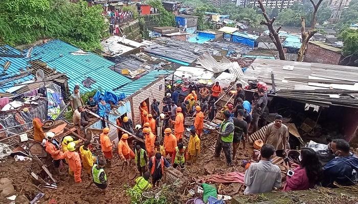 25 dead, several hurt in Mumbai landslide after heavy rains