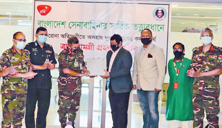 Robi, SKS join hands to support distressed people