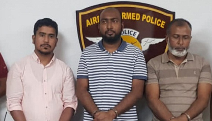 3 held with 14kg gold in paste at HSIA airport