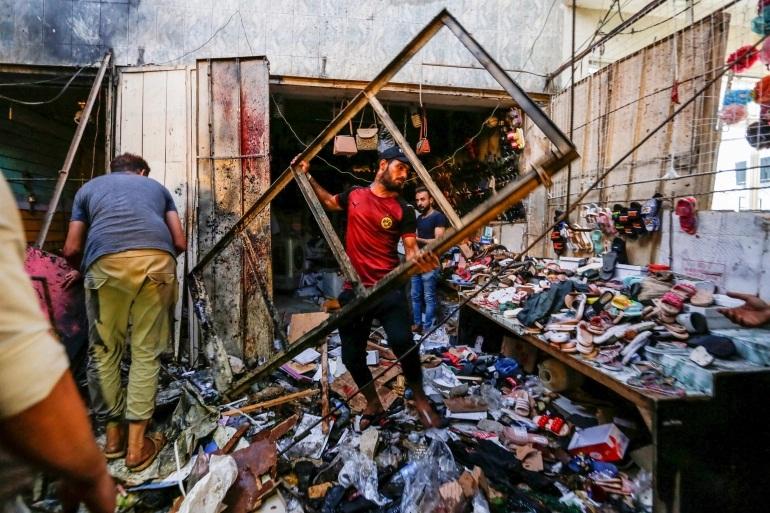 Iraq market bomb kills nearly 35 on eve of Eid holiday