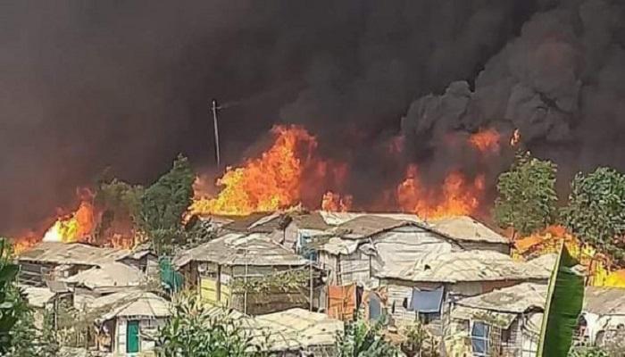 Fire destroys 63 homes in Ukhiya Rohingya camp