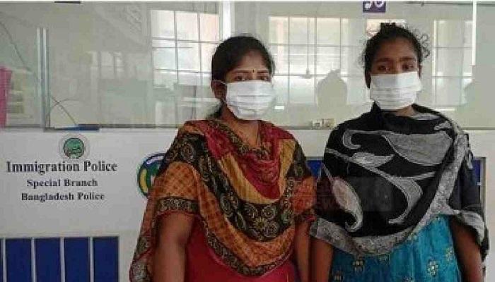 Two Bangladeshi women trafficked to India returns via Benapole
