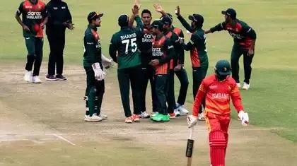 Bangladesh require 153 runs to win against Zimbabwe