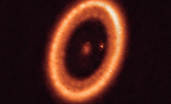 Astronomers spy first moon-forming disk around an exoplanet