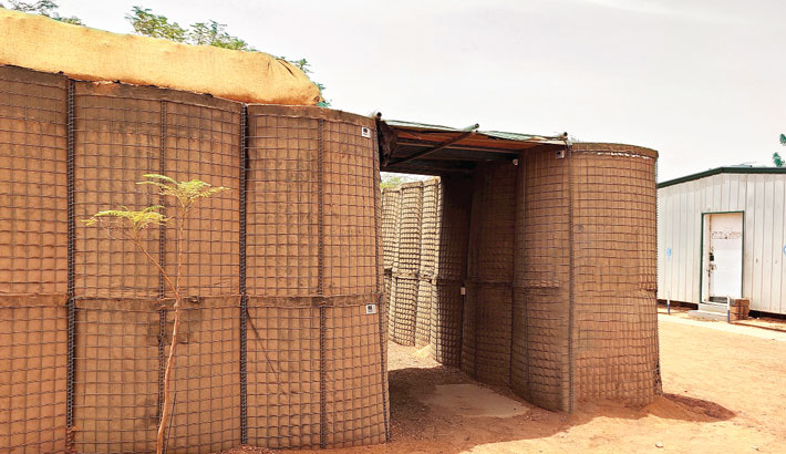 Emergency shelters save lives of Bangladeshi peacekeepers in Mali
