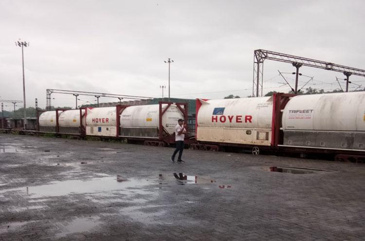 India's Oxygen Express arrives