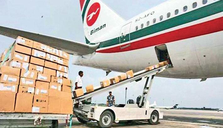 Biman carries ventilators from Delhi at no charge