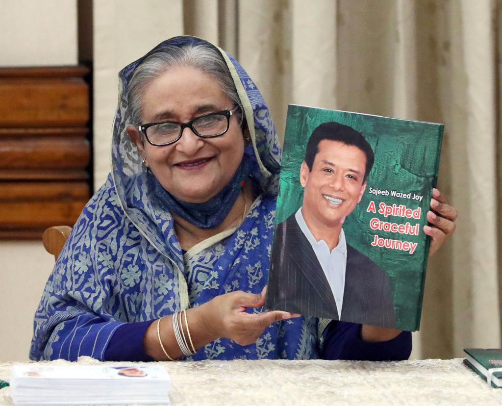 PM unveils book 'Sajeeb Wazed Joy: A Spirited Graceful Journey'