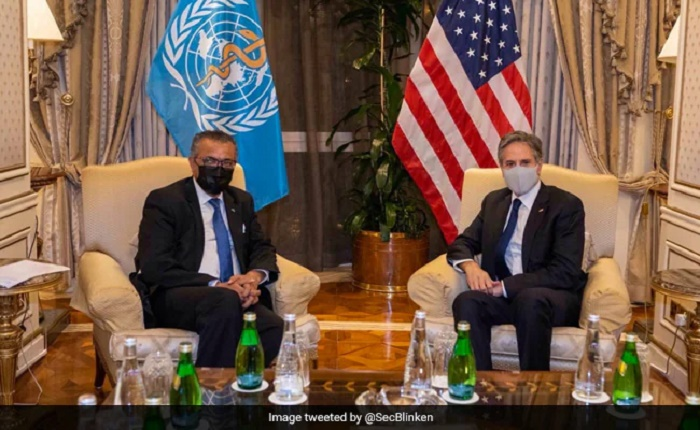 US' Blinken meets WHO chief, supports probe into Covid origins