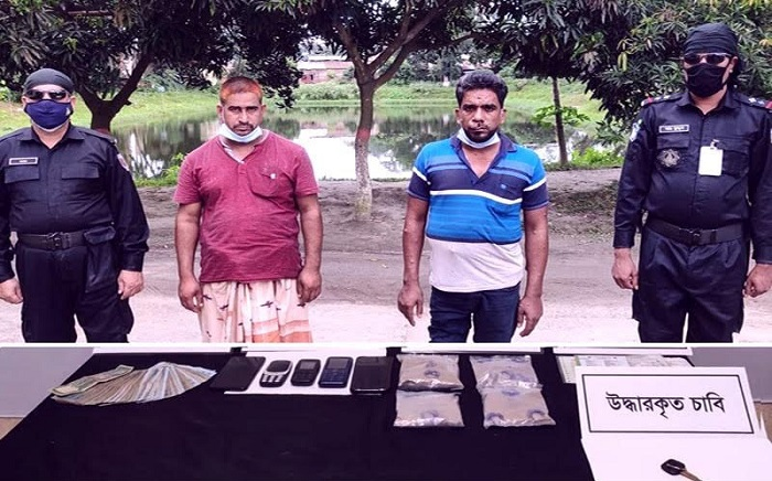 Two held with heroin, ambulance in Gaibandha
