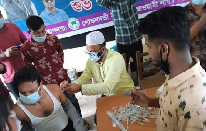 Whip Shamsul Haque introduces early vaccination in his union unlawfully
