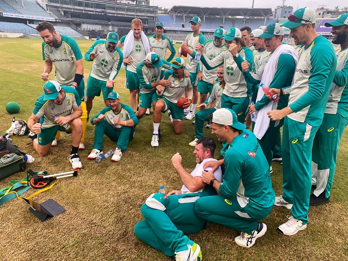 Aussies cheer for Brandon from home of cricket