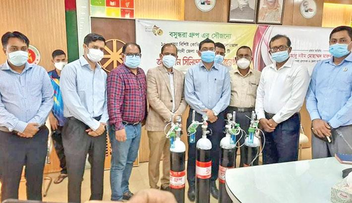 Bashundhara Group gifts 100 oxygen cylinders to Narsingdi District Hospital