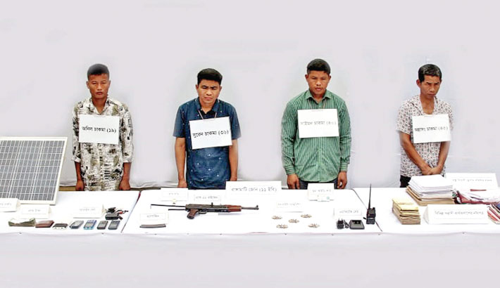 4 UPDF men held with firearms in Rangamati