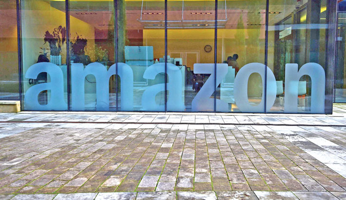 This file photograph taken recently shows a view of US multinational Amazon's European headquarters, in the Clausen Valley in Luxembourg. Amazon was fined 746 million euros by Luxembourg authorities over allegations the giant online retailer flouted the EU's data protection rules, Amazon said Friday. The fine was issued July 16 by the Luxembourg National Commission for Data Protection following its determination that
