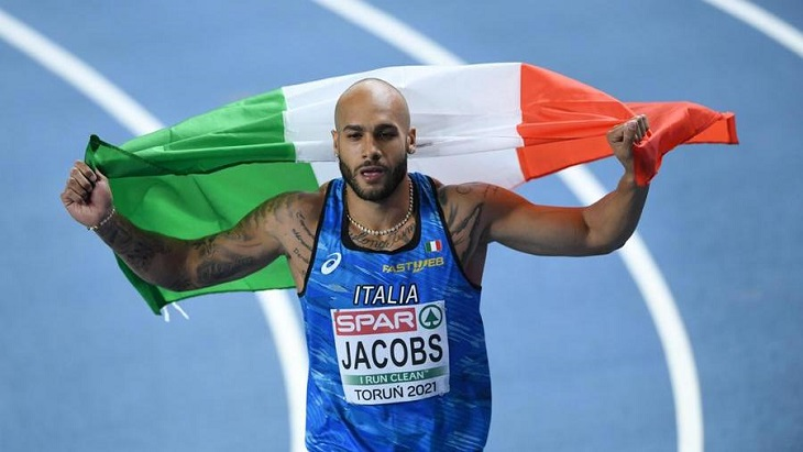 Italy's Lamont Marcell Jacobs wins first post-Bolt Olympic 100m gold