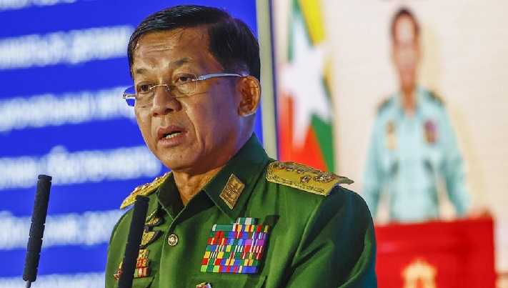 Myanmar military forms caretaker gov't with army chief as PM