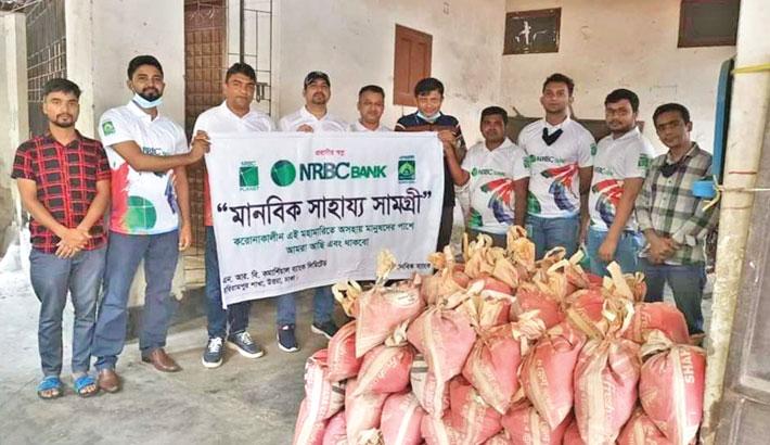 NRBC Bank distributes food among distressed